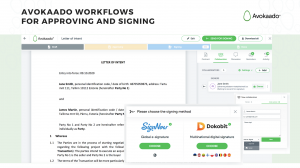 How to electronically sign a document in Avokaado