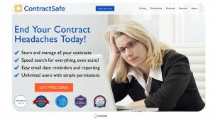 Free contract management software — ContractSafe