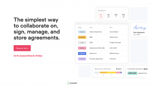 Free contract management software — Concord