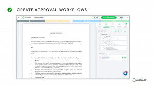 Contract approval: Avokaado view